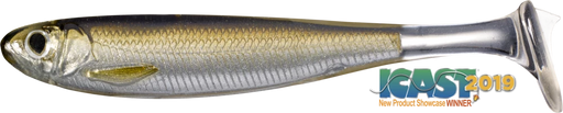 LIVETARGET Slow-Roll Shiner Paddle Tail Swimbait