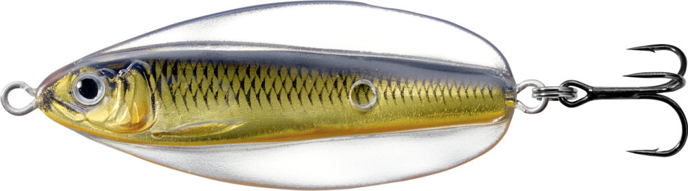 "LIVETARGET Erratic Shiner Flutter Spoon 1//2 oz /""Glow Black/"""