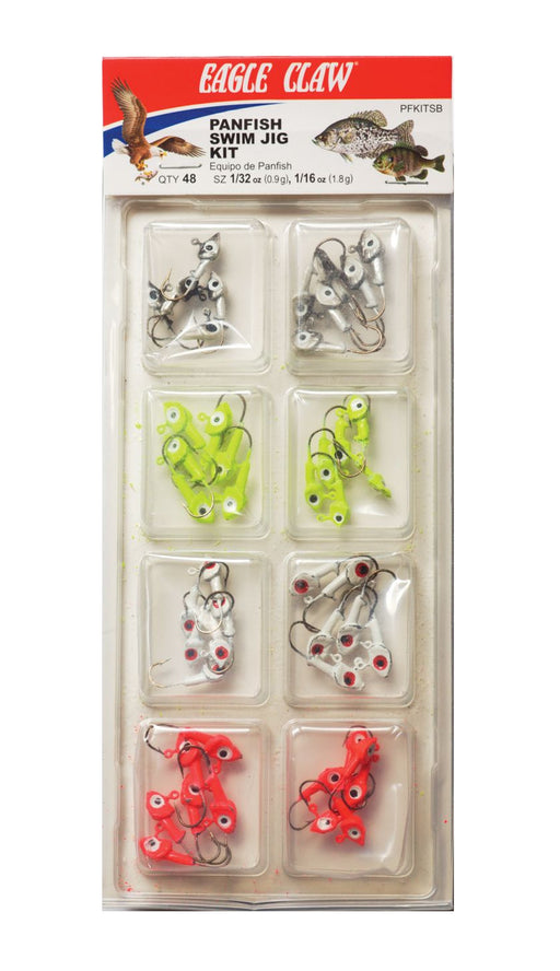 Eagle Claw Panfish Swim Jig Kit 48-Piece Jighead Assortment
