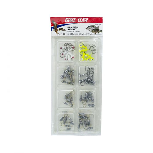 Eagle Claw Panfish Jig Kit 58-Piece Jighead Assortment