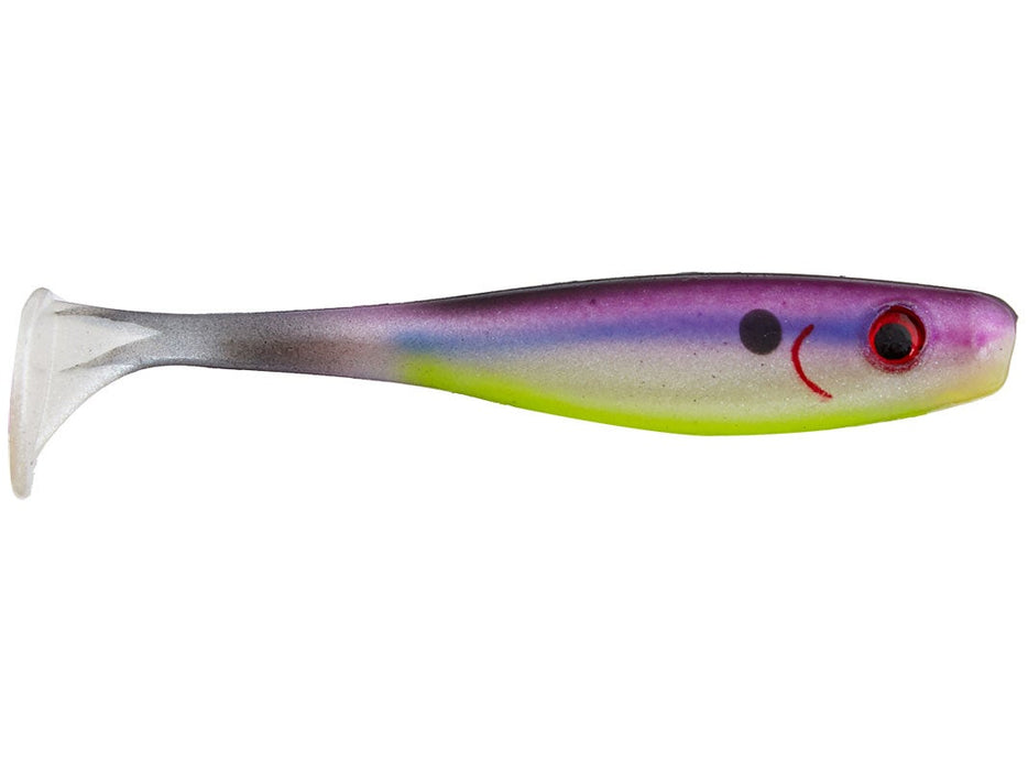 Big Bite Baits Suicide Shad 5 inch Soft Paddle Tail Swimbait 4 pack