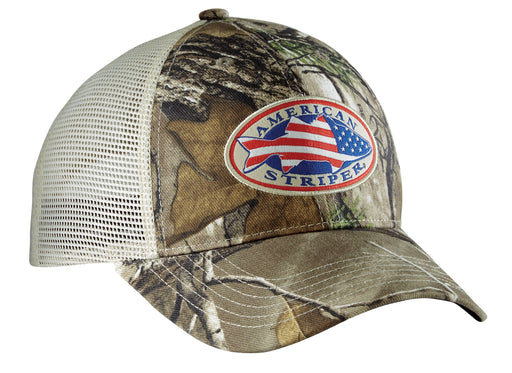 Flying Fisherman American Striper RealTree Camo Trucker
