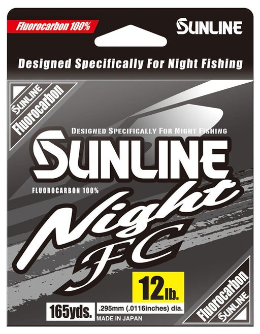 Sunline Night FC Fluorocarbon Hi-Vis Yellow 165 Yards