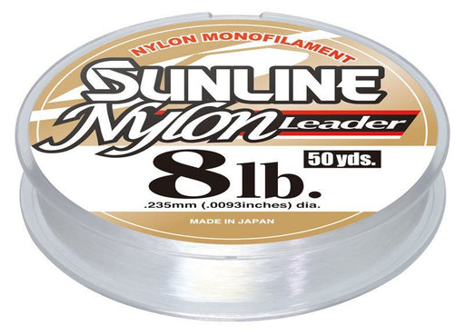 Sunline Nylon Monofilament Leader Wheel 50 Yards