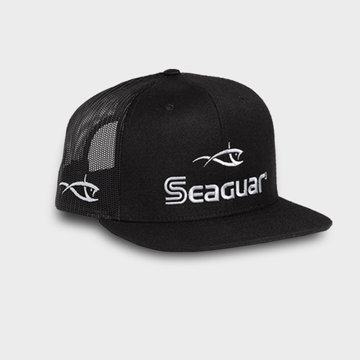 Seaguar Logo Richardson 511 Black Flat Bill Cap
