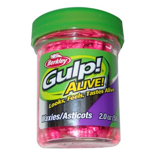 Berkley Gulp! Alive 1/2 inch Waxies 2 oz. Jar