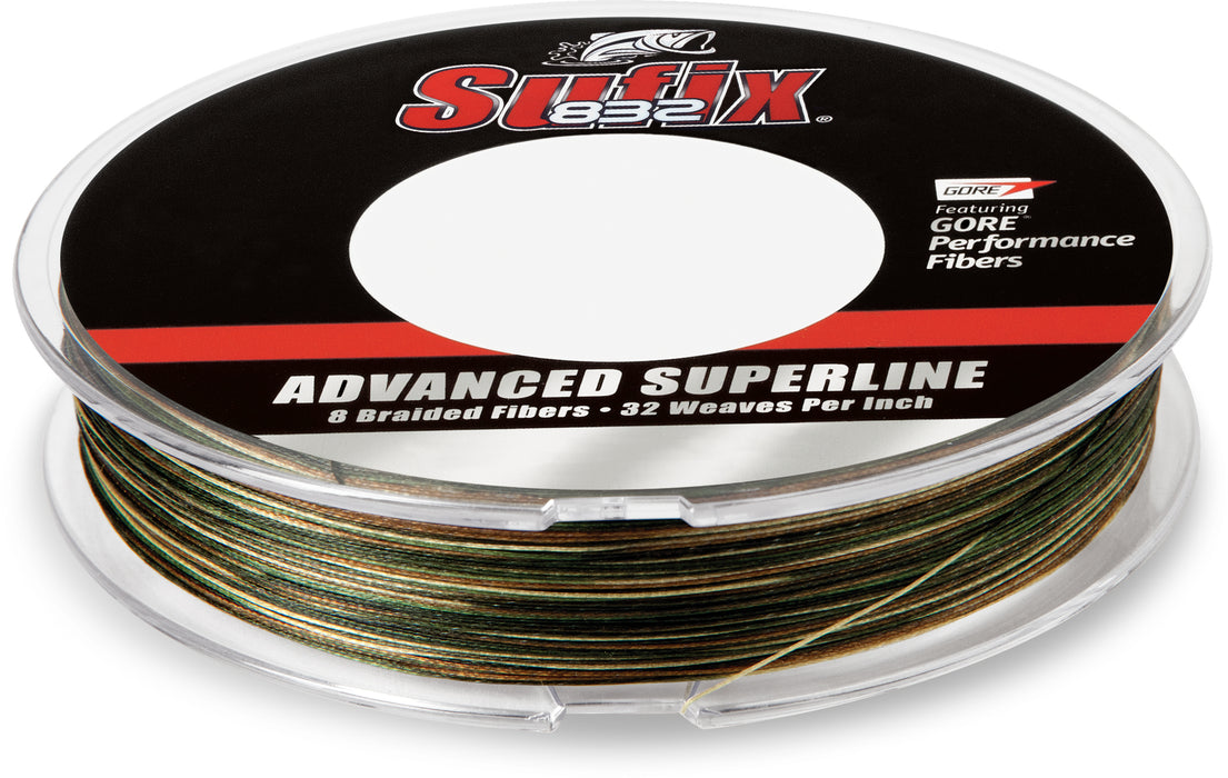 Sufix 832 Braid Camo Green Braided Line