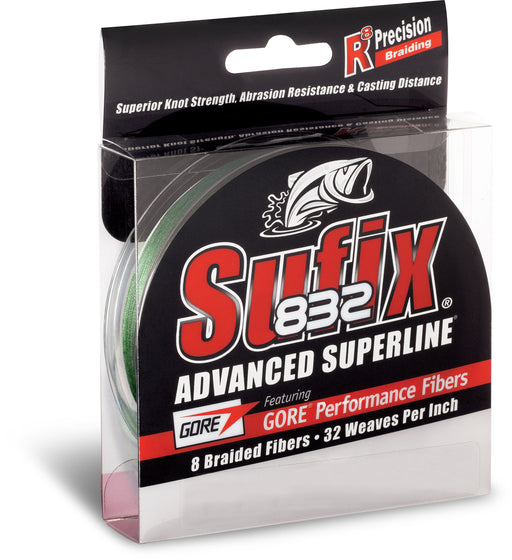 Sufix 832 Advanced Superline Braid Lo-Vis Green Braided Line 150 Yards 6 LB