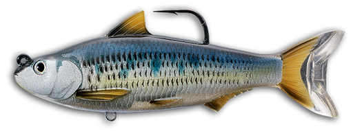 LIVETARGET Common Shiner Soft Body Swimbait Silver Blue