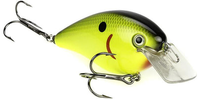 Strike King KVD Magnum Square Bill 8.0 Silent Crankbaits Black Back Chartreuse