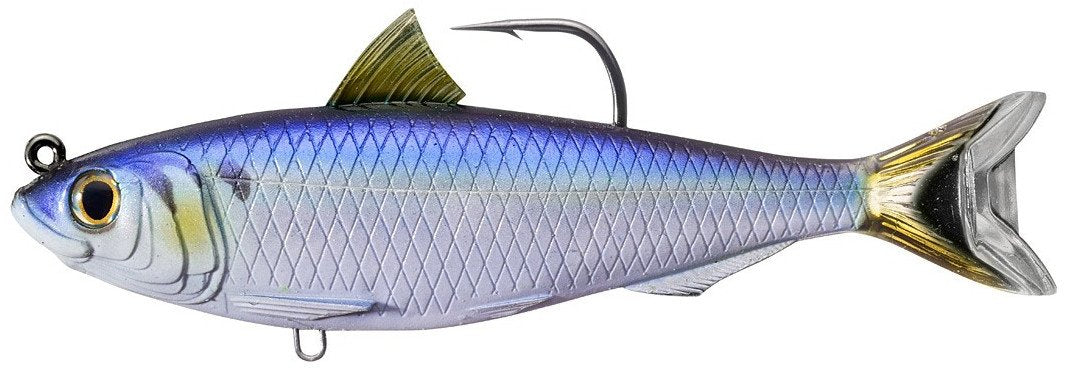 LIVETARGET Blueback Herring Soft Body Swimbait Blue Black