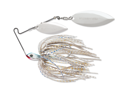 Terminator Super Stainless Spinnerbait Double Willow 3/8 Oz. Blue Shad Nickel