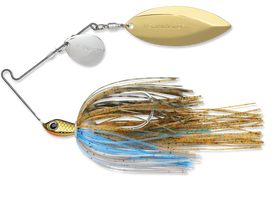 Terminator Stainless Pulse Skirt Spinnerbait Colorado Willow 3/8 Oz. Bluegill Nickel Gold