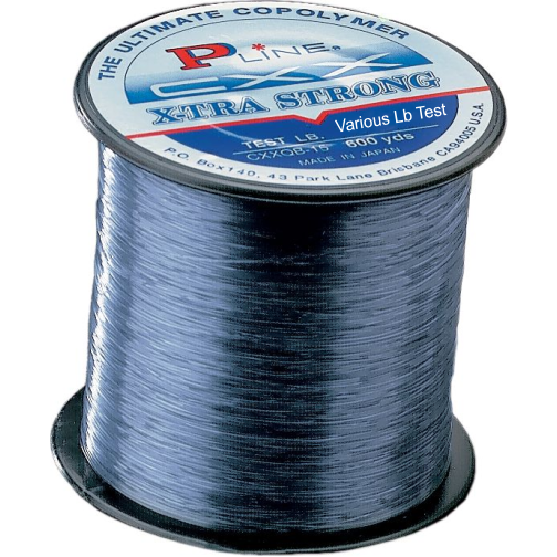 P-Line CXX Smoke Blue X-Tra Strong Fishing Line 10 lb 600 yds