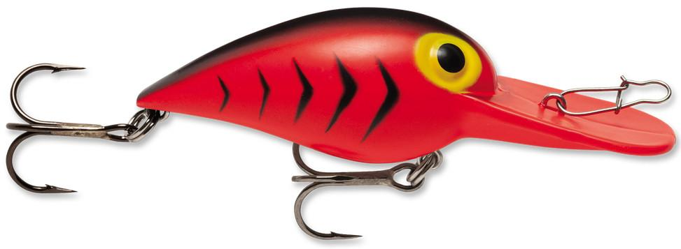 Storm Original Wiggle Wart 05 Fishing Lure Fluorescent Red//Black HB, Size- 2