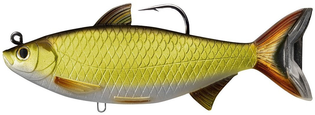 LIVETARGET Golden Shiner Soft Body Swimbait Gold Black