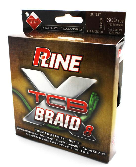 P-Line Teflon Coated 8 Carrier Braid (XTCB-8) 300 Yards Green 10 LB