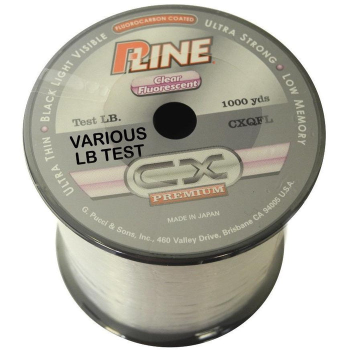 P-Line CX Premium Clear Fluorescent Co-Polymer Fishing Line