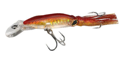 Yo-Zuri 3D Squirt Floating Diving 7 1/2 inch Squid Imitator Gold Red