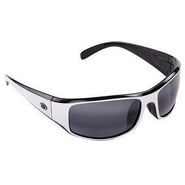 Strike King S11 Optics Polarized Sunglasses 53-White Black Frame Smoke Lens