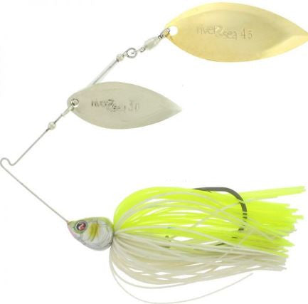 River2Sea Ish Monroe Bling Double Willow Spinnerbait 1/2 oz.