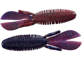 Missile Baits Baby D Bomb Soft Plastic Creature Bait 7 pack Black Red Flake