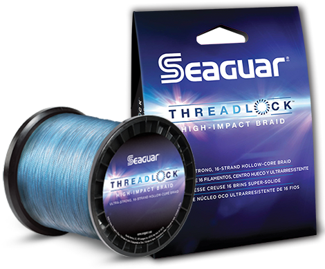 Seaguar Threadlock Braided Fishing Line Blue 600 Yards 50 LB