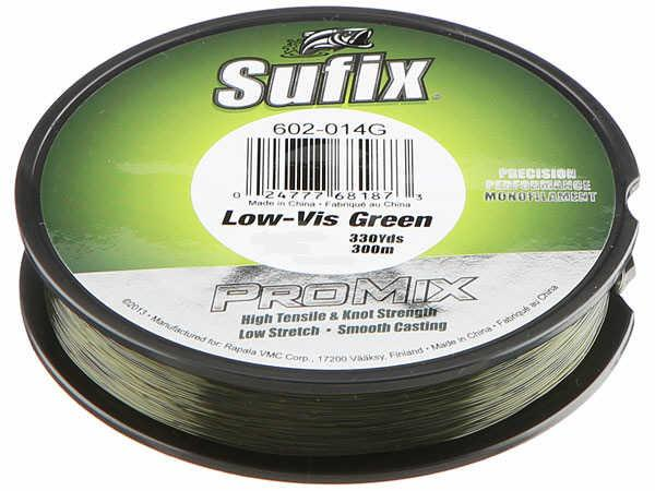 Sufix Pro Mix Lo-Vis Green Monofilament 330 Yards 4 LB