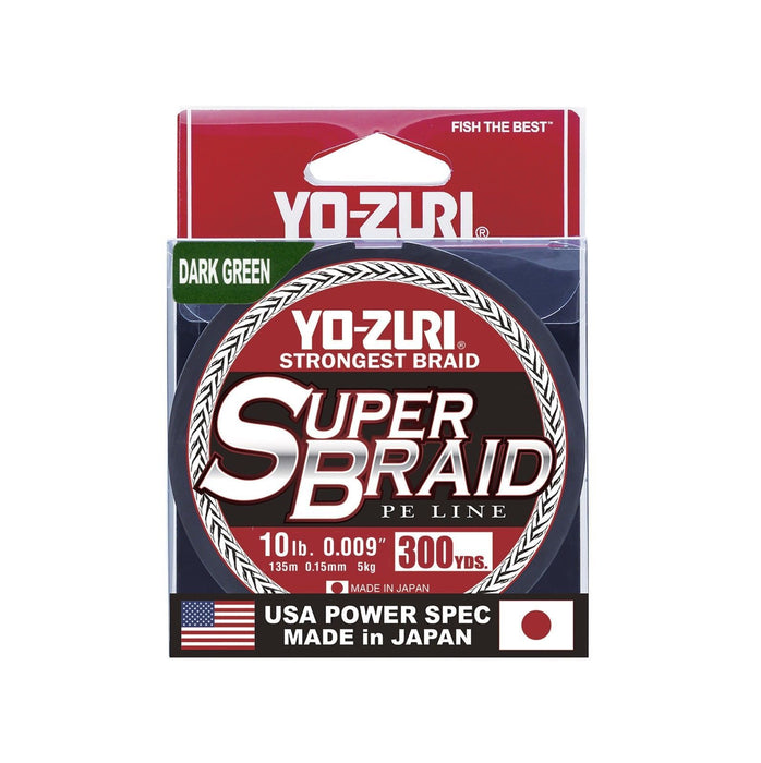 Yo-Zuri Superbraid Dark Green 300 Yards Superbraid Fishing Line 10 pound