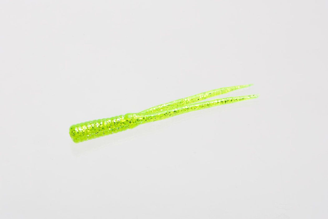 Zoom Split Tail Trailer 4 Inch 20 Pack Chartreuse Glitter