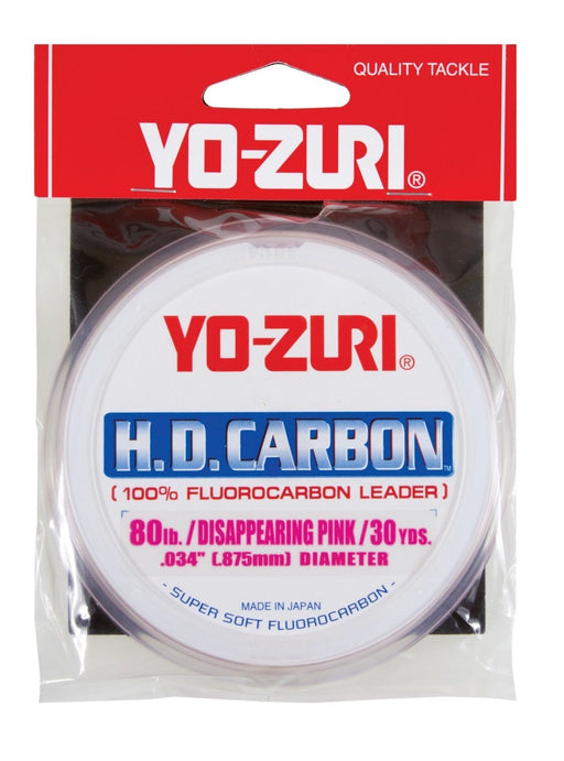 Yo-Zuri HD Carbon Disappearing Pink 30 Yards Fluorocarbon Leader