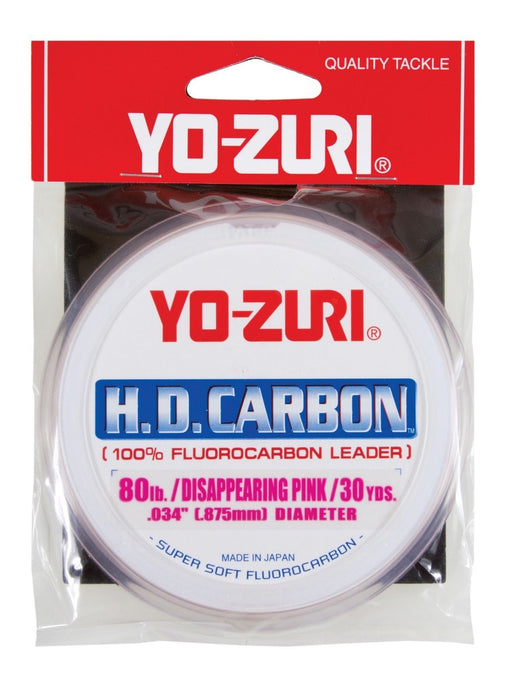 Yo-Zuri HD Carbon Disappearing Pink 30 Yards Fluorocarbon Leader 2 pound
