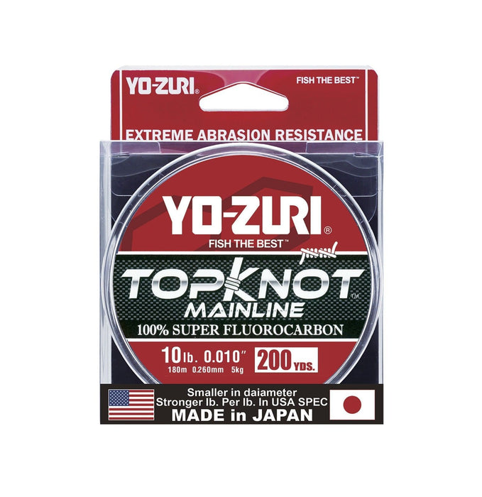 Yo-Zuri Topknot Mainline Natural Clear 200 Yards Fluorocarbon Fishing Line 6 pound