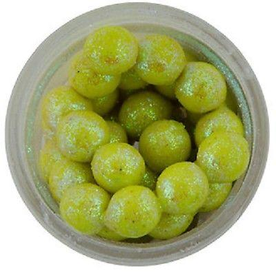 Berkley Powerbait Sparkle Power Eggs Floating Magnum 1 oz. Jar Chartreuse