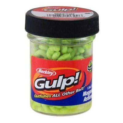 Berkley Gulp! Maggot 1.5 oz. Jar Chartreuse