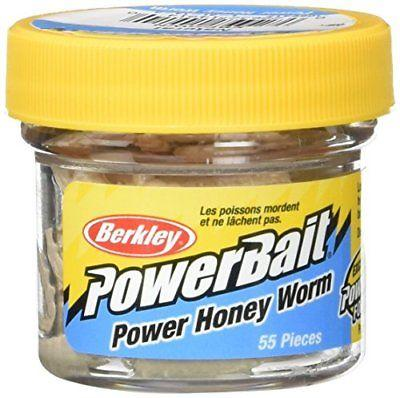 Berkley PowerBait 1 inch Honey Worm (55 per Jar) Natural
