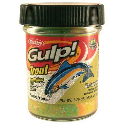 Berkley Gulp! Trout Dough Natural Garlic Scent 1.75 oz. Jar Chartreuse