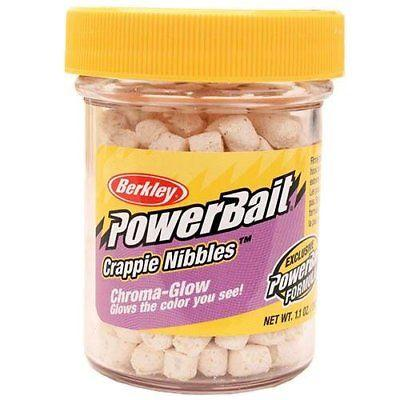 Berkley Powerbait Chroma-Glow Crappie Nibbles Glow White