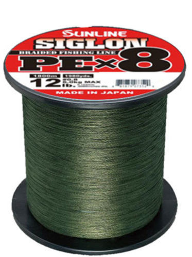 Sunline Siglon PEx8 Dark Green Braid 1980 Yards Braided Fishing Line 10 lb