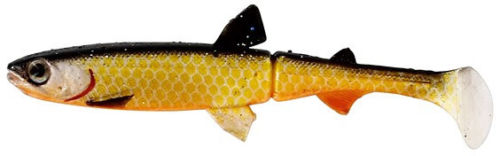 Westin HypoTeez 3 1/2 Inch Soft Jointed Paddle Tail Swimbait Crazy Firetiger