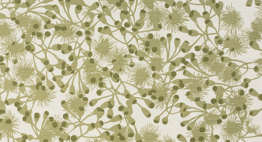 Gumblossom Khaki green - heavyweight fabric on the roll