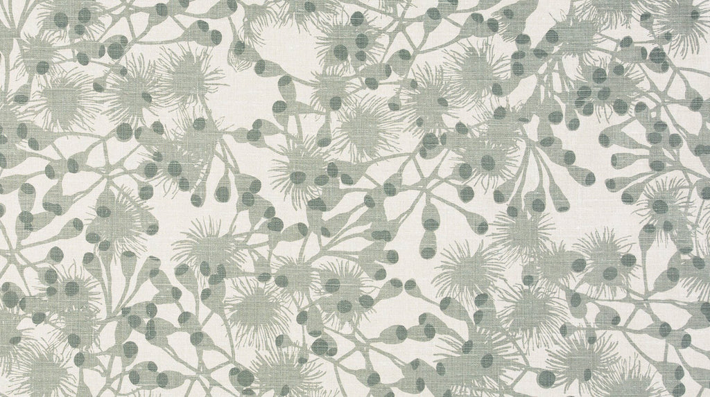 Gumblossom Pale Grey - heavyweight fabric on the roll