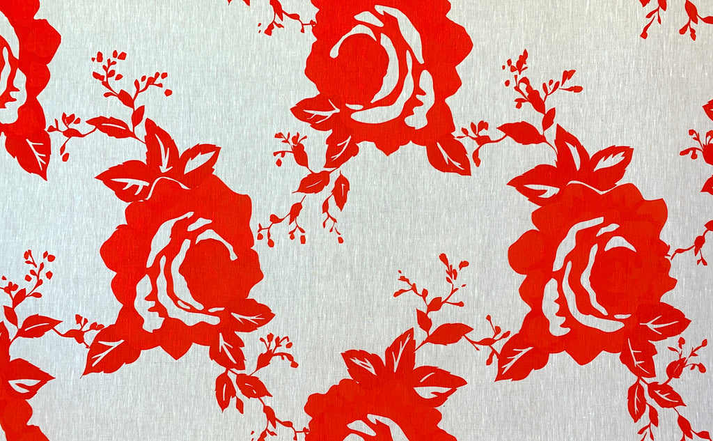 Rough Rose Scarlet -  general purpose linen