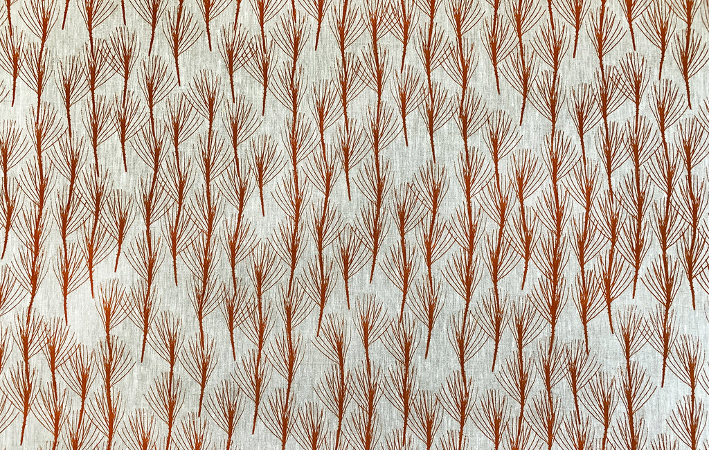 Twig of Conifer Russet - mid weight linen