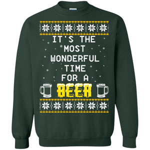 It's the Most Wonderful Time for a Beer Ugly Christmas ugly sweater