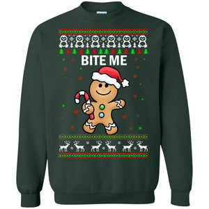 Gingerbread Bite me Christmas sweater
