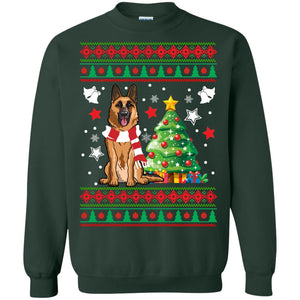 German Shepherd Christmas sweatshirt