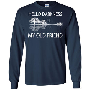 Guitar hello darkness my old friend - Dovetees.com