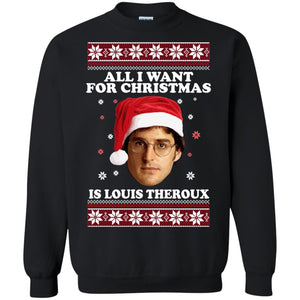 All I want for Christmas IS louis Theroux ugly sweatshirt