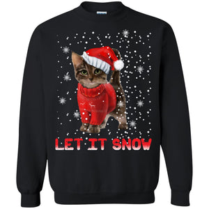 Cat let it snow Christmas sweatshirt